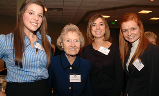 Ann Bowling and Scholarship Recipients 2009 Event