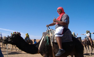 Graduate of the college Bryan Kennedy during his study abroad time in Morocco