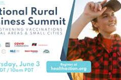 Banner ad that says National Rural Business Summit and gives detail about time, date and sponsors