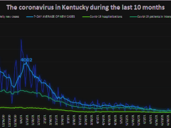 Ky. Health News graph; daily cases from initial, unadjusted reports. For a larger version, click on it.